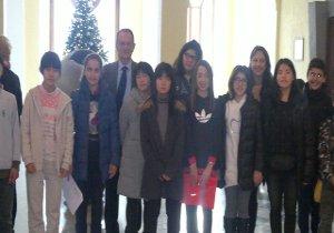 Studenti giapponesi ospiti di famiglie di Sorrento