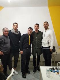 I giocatori del Napoli a Sorrento per festeggiare il titolo di Campioni d'Inverno
