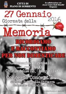 Un concerto per celebrare la Giornata della Memoria