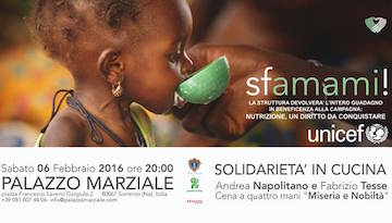 Questa sera a Palazzo Marziale cena di beneficenza a favore dell'Unicef