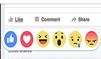 Da oggi sono disponibili le nuove emoticon di Facebook