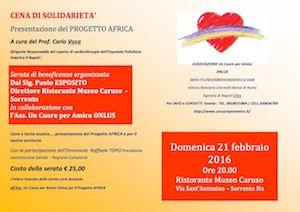 """Sorrento ospita l'iniziativa benefica """"Progetto Africa"""""""
