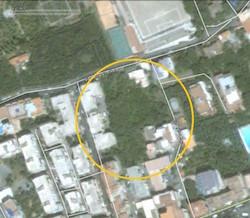 Immagine satellitare di vico Rota prima dell'avvio dei lavori