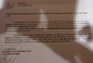 La lettera di Poste Italiane per la rescissione del contratto