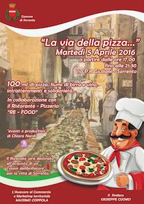 Una pizza da record nel centro storico di Sorrento