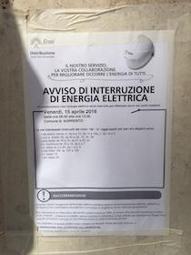 Domani mattina centro di Sorrento senza energia elettrica