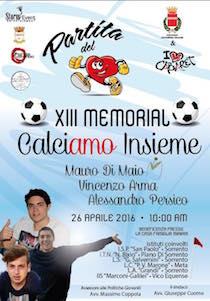 Torna il memorial Calciamo Insieme