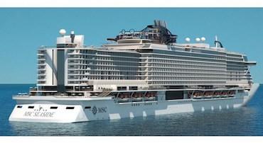La Fincantieri lavora a Msc Seaside, la più grande nave da crociera costruita in Italia
