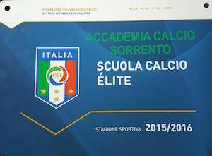 L'Accademia Sorrento riconosciuta Scuola Calcio d'Élite