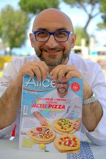 Antonino Esposito e le sue pizze sulla copertina di Alice Cucina