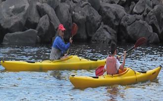 Lezioni di kayak per gli alunni della scuola Gaetano Amalfi