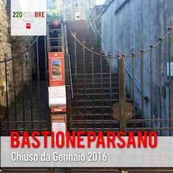 """Bastione di Parsano, appello per l'apertura, l'assessore: """"Procedura avviata"""""""