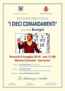 A Sorrento si discute dei Comandamenti secondo Roberto Benigni