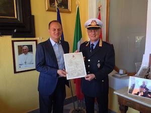Il comandante Antonio Marcia promosso colonnello