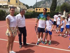 Flavia Pennetta e Fabio Fognini, relax a Capri prima del si