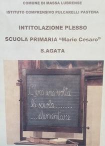 Dedicata a Mario Cesaro la scuola primaria di Sant'Agata sui due Golfi