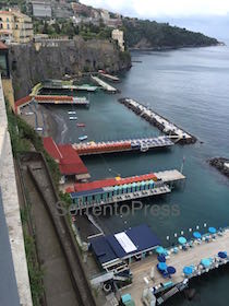 Sequestro per il bar-ristorante del Leonelli's Beach di Sorrento