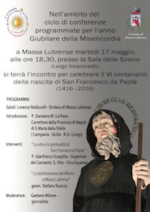 Una conferenza sulla figura di San Francesco da Paola