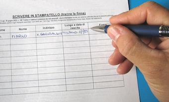 A Piano di Sorrento spunta la sottoscrizione per una lista in bianco