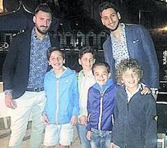 Festa per i ragazzi dell'Accademia Sorrento con i fratelli Donnarumma