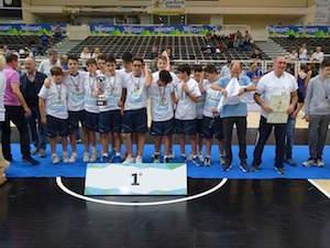 I ragazzi del comprensivo Piano di Sorrento Campioni d'Italia di volley