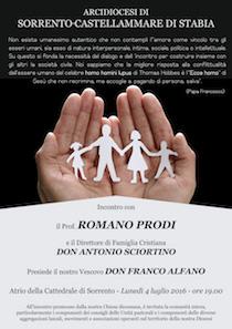A Sorrento un incontro con Romano Prodi e don Antonio Sciortino