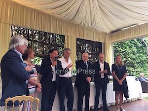 Sindaci ed amministratori alla presentazione del libro su Palazzo Marziale