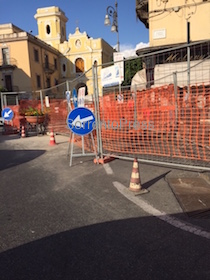 Cantieri in centro, da domani nuovo piano traffico a Sorrento