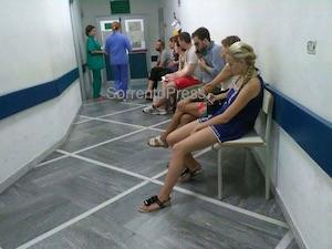 Attese infinite al pronto soccorso dell'ospedale di Sorrento