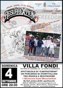 Recital con musica live a Villa Fondi