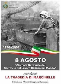 La città di Vico Equense ricorda la strage di Marcinelle