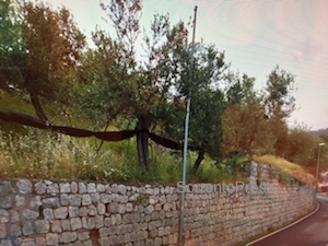 Cadono pietre dal muro, transennata parte di via Capo