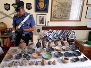 Reperti archeologici in casa di un medico a Piano di Sorrento