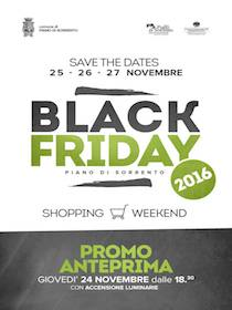 Al via il Black Friday di Piano di Sorrento
