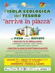 L'Isola Ecologica del Tesoro arriva in piazza Lauro