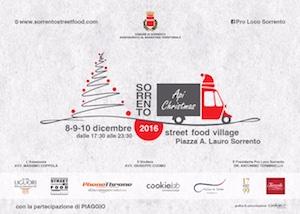 A Sorrento lo Street Food Village in tema natalizio