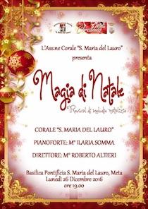 """La Corale del Lauro presenta l'evento """"Magia di Natale"""""""