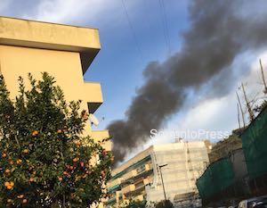 Incendio in un'abitazione, paura a Sorrento