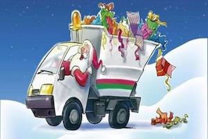 A Sorrento anche Babbo Natale fa la raccolta differenziata