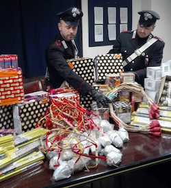 I carabinieri sequestrano 3,5 quintali di botti illegali – foto –
