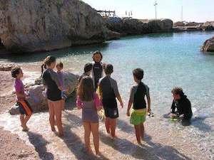 Gli alunni della Buonocore-Fienga sentinelle del mare
