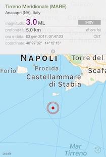 Terremoto al largo di Capri, paura anche in costiera