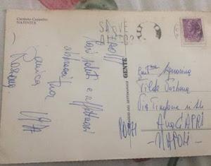 Cartolina partita da Roma 43 anni fa consegnata oggi a Capri