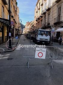 Rifacimento asfalto, domani limitazioni al traffico a Sorrento