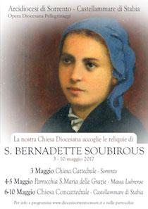 La diocesi accoglie le reliquie di Santa Bernadette di Lourdes – programma –