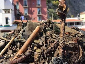 Pulizia dei fondali a Sorrento, raccolte 5 tonnellate di rifiuti
