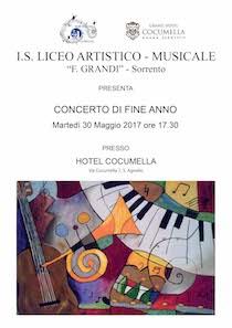 """Al Cocumella il concerto di fine anno del liceo musicale """"Grandi"""""""