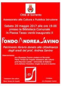 Nella biblioteca di Sorrento nasce il Fondo Andrea Savino