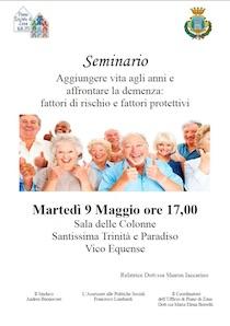 A Vico Equense un seminario sulla demenza