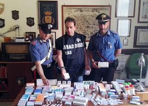 Possesso di anabolizzanti, due arresti in penisola sorrentina – foto –